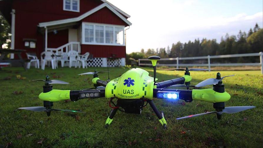 Drone équipé d'un défibrillateur cardiaque