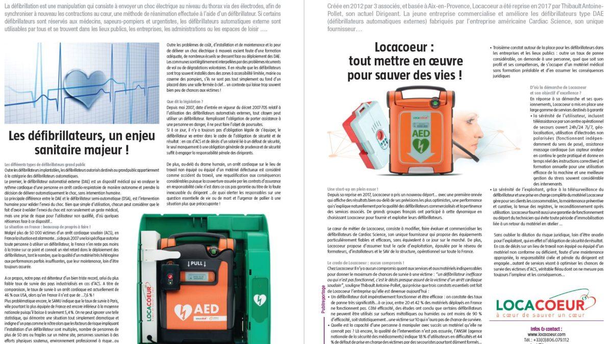 Défibrillateur Locacoeur - Magazine Entreprendre